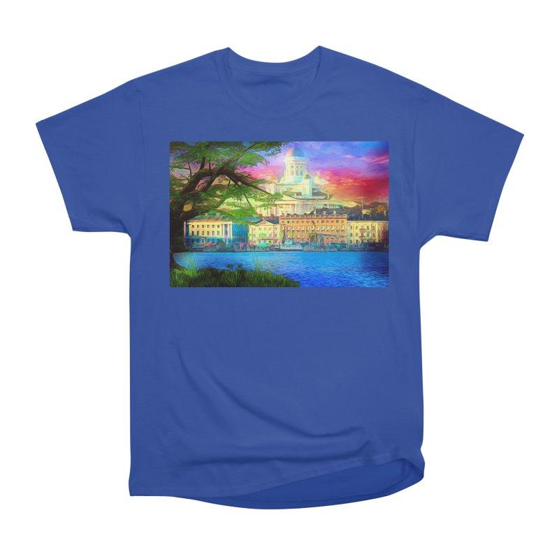 City of Rainbow Men's Heavyweight T-Shirt by Jasmina Seidl's Artist Shop