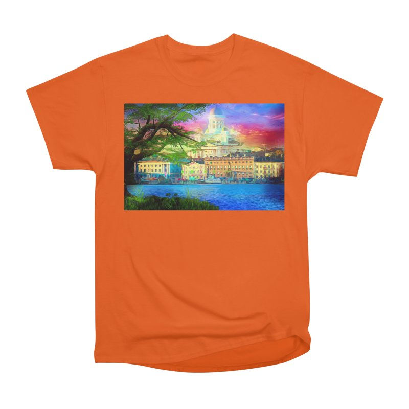 City of Rainbow Women's Heavyweight Unisex T-Shirt by Jasmina Seidl's Artist Shop