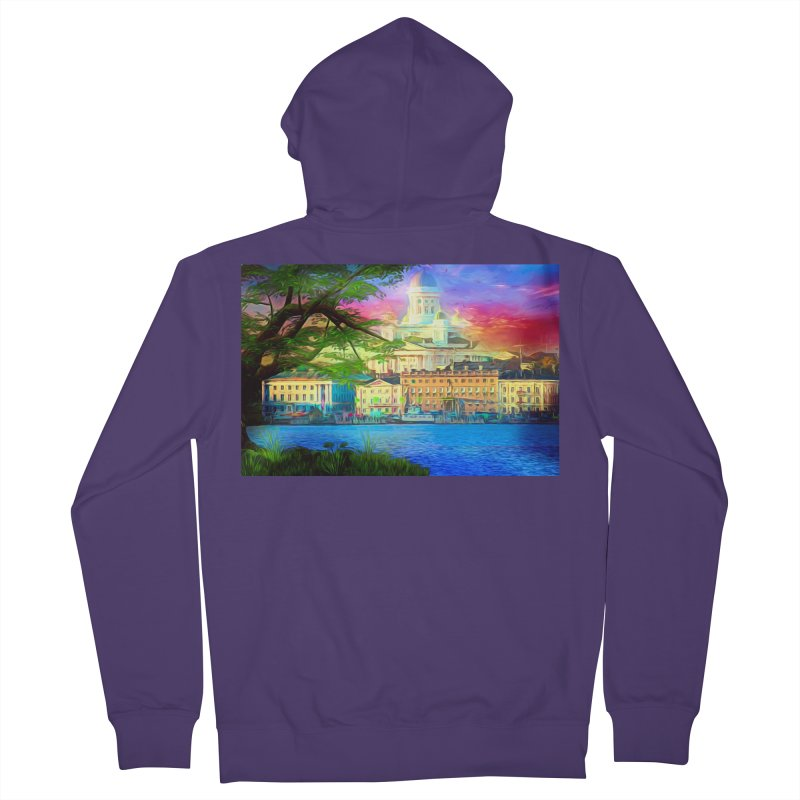 City of Rainbow Women's French Terry Zip-Up Hoody by Jasmina Seidl's Artist Shop