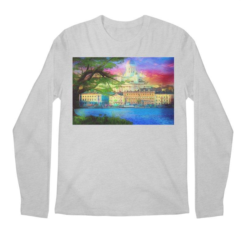 City of Rainbow Men's Regular Longsleeve T-Shirt by Jasmina Seidl's Artist Shop