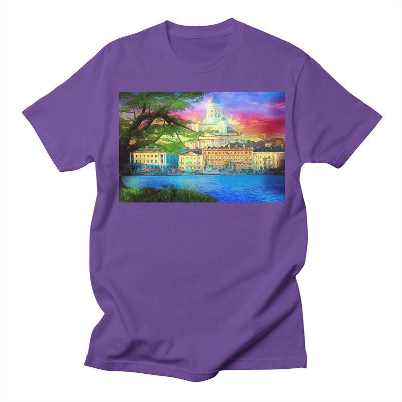 City of Rainbow Women's Regular Unisex T-Shirt by Jasmina Seidl's Artist Shop