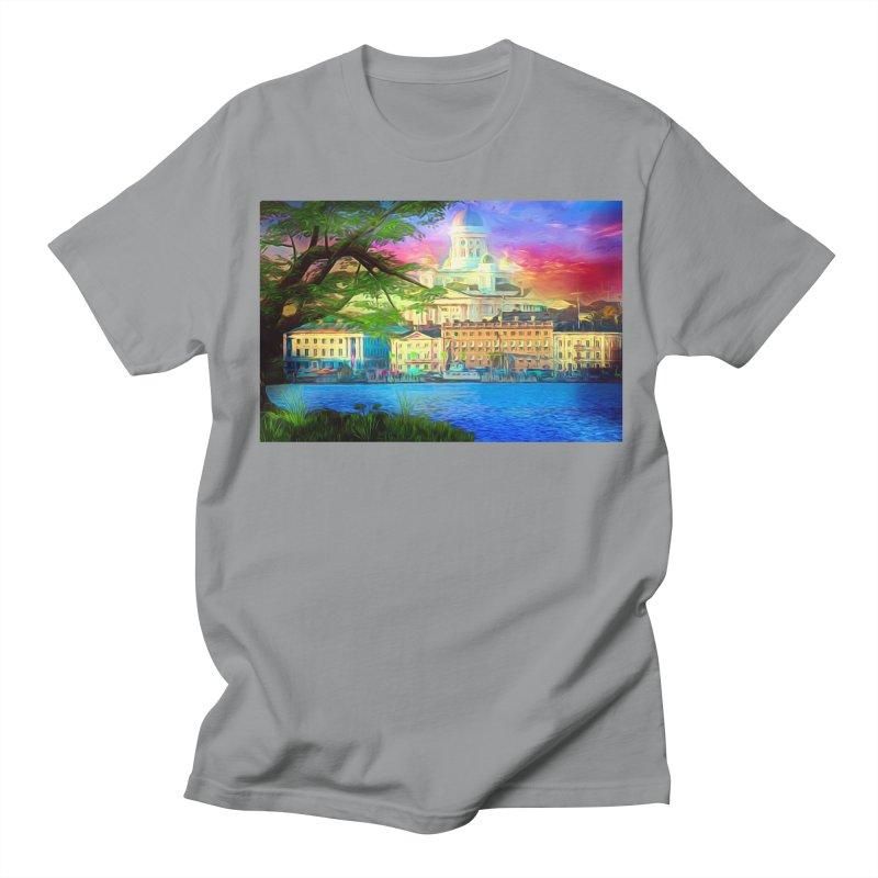 City of Rainbow Men's Regular T-Shirt by Jasmina Seidl's Artist Shop