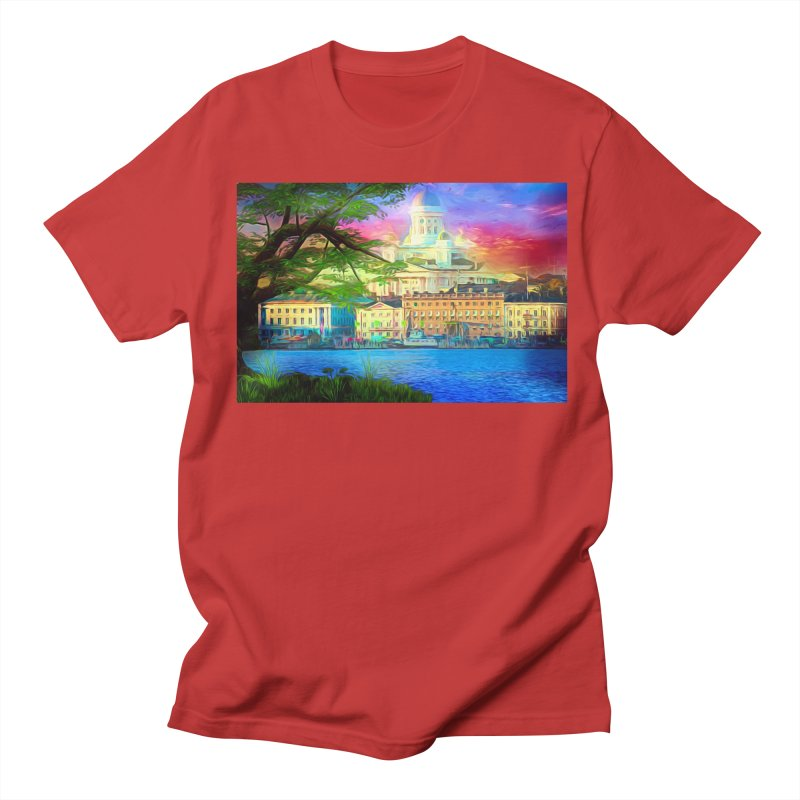 City of Rainbow Women's Regular Unisex T-Shirt by Jasmina Seidl's Artist Shop