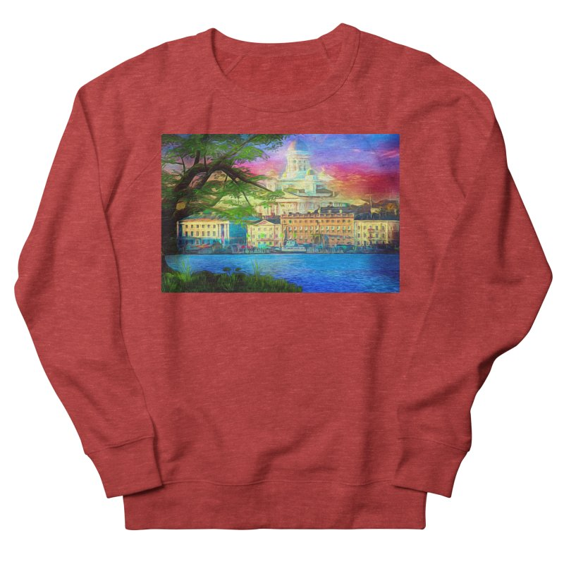 City of Rainbow Women's French Terry Sweatshirt by Jasmina Seidl's Artist Shop