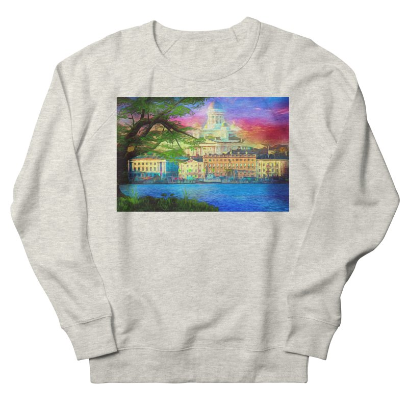 City of Rainbow Women's French Terry Sweatshirt by Jasmina Seidl's Artist Shop
