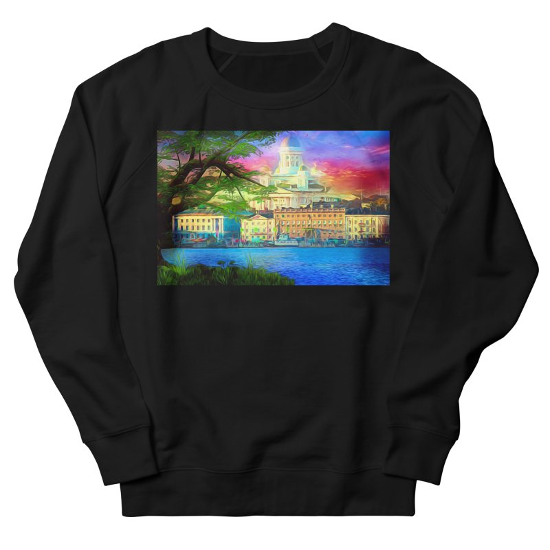 City of Rainbow Men's French Terry Sweatshirt by Jasmina Seidl's Artist Shop