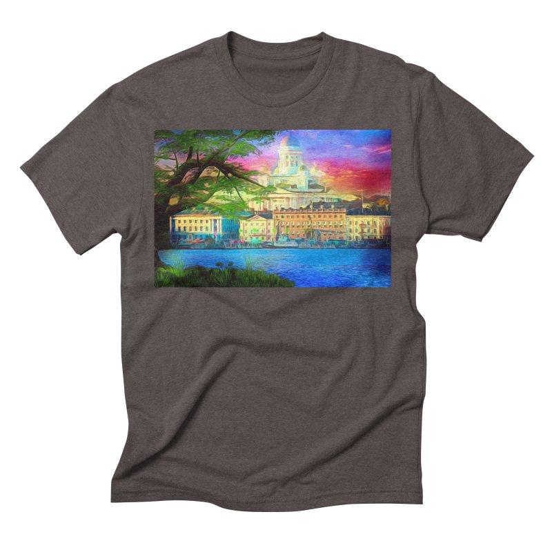 City of Rainbow Men's Triblend T-Shirt by Jasmina Seidl's Artist Shop