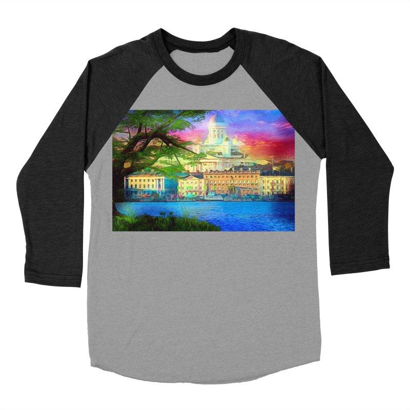 City of Rainbow Women's Baseball Triblend Longsleeve T-Shirt by Jasmina Seidl's Artist Shop