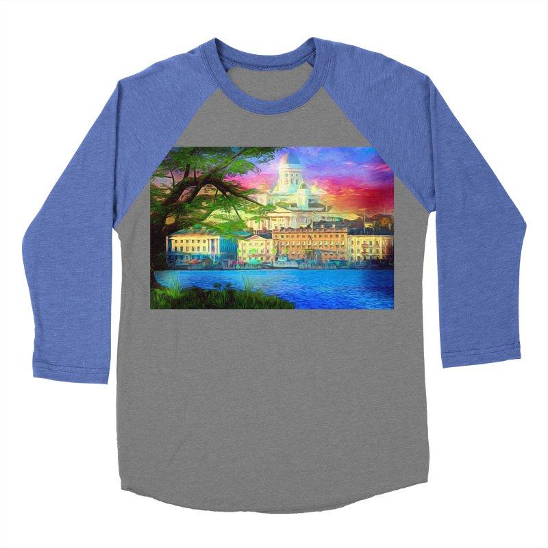 City of Rainbow Men's Baseball Triblend Longsleeve T-Shirt by Jasmina Seidl's Artist Shop