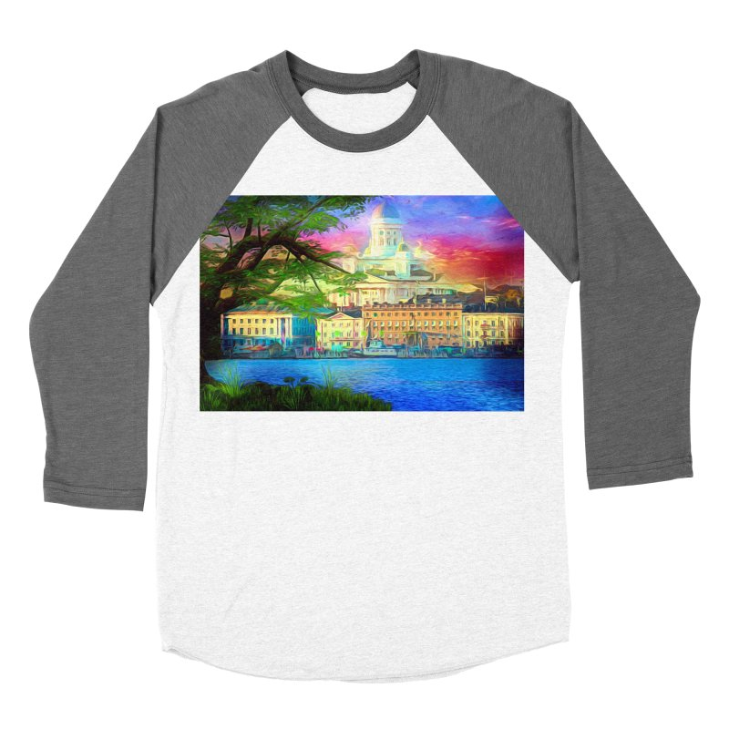 City of Rainbow Men's Baseball Triblend Longsleeve T-Shirt by Jasmina Seidl's Artist Shop