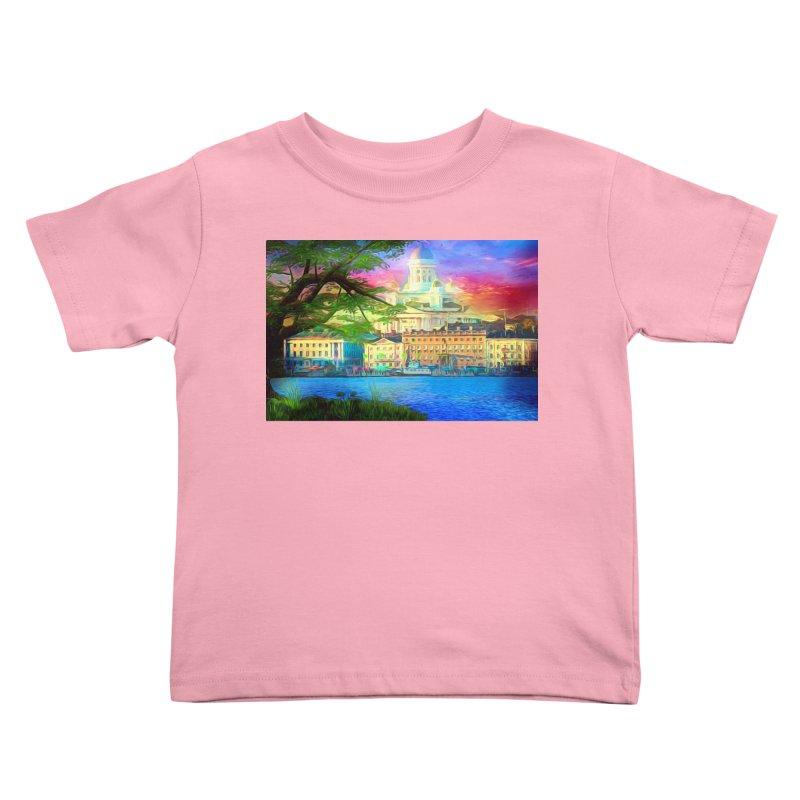 City of Rainbow Kids Toddler T-Shirt by Jasmina Seidl's Artist Shop