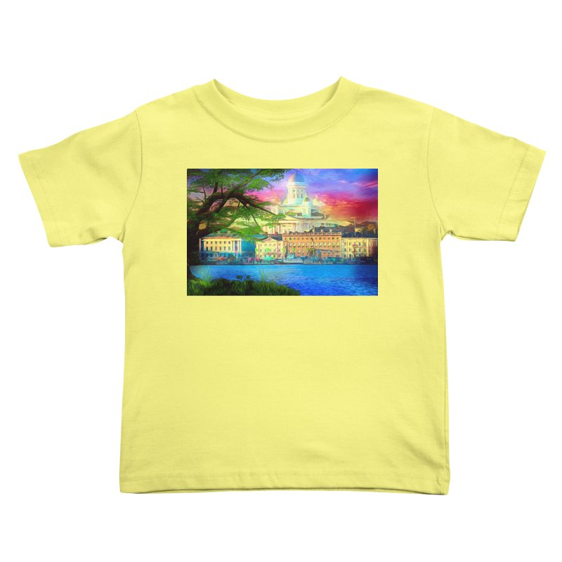 City of Rainbow Kids Toddler T-Shirt by Jasmina Seidl's Artist Shop