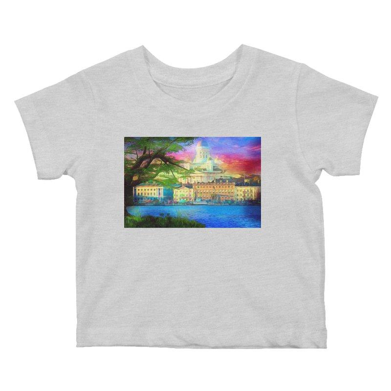 City of Rainbow Kids Baby T-Shirt by Jasmina Seidl's Artist Shop