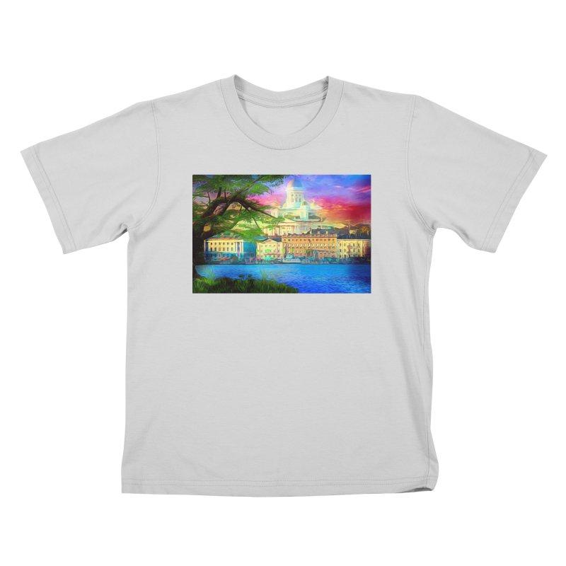 City of Rainbow Kids T-Shirt by Jasmina Seidl's Artist Shop