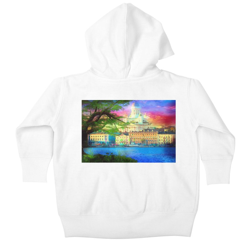 City of Rainbow Kids Baby Zip-Up Hoody by Jasmina Seidl's Artist Shop