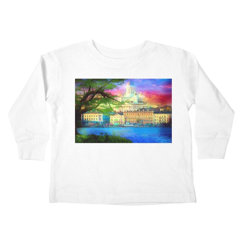 City of Rainbow Kids Toddler Longsleeve T-Shirt by Jasmina Seidl's Artist Shop