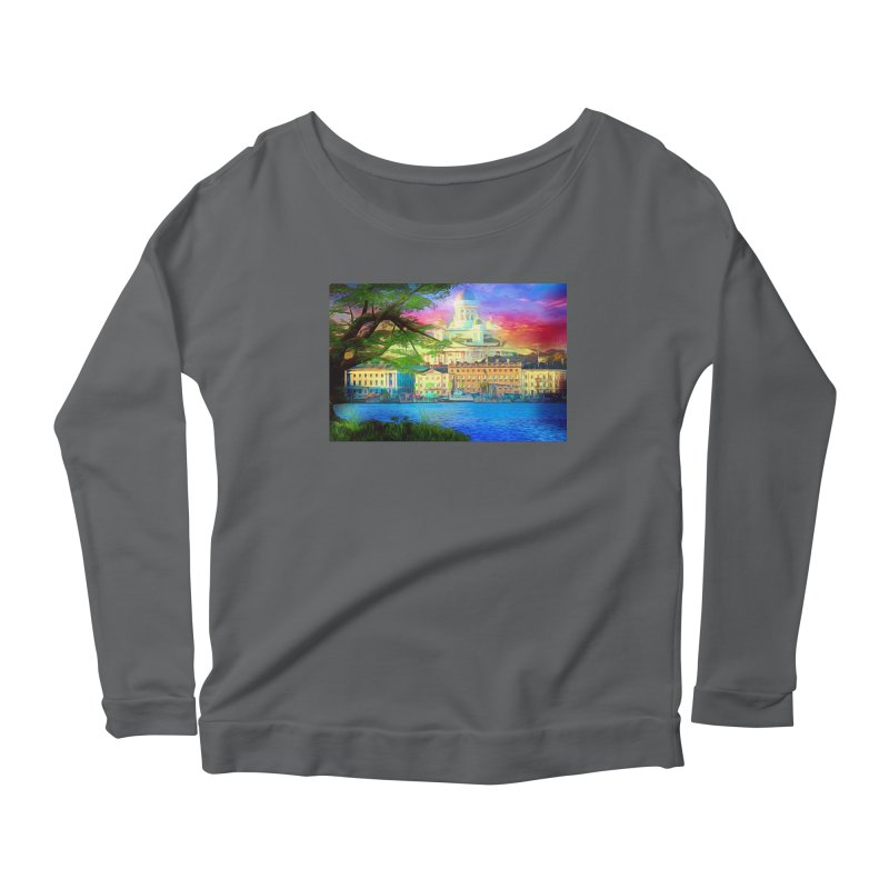 City of Rainbow Women's Scoop Neck Longsleeve T-Shirt by Jasmina Seidl's Artist Shop