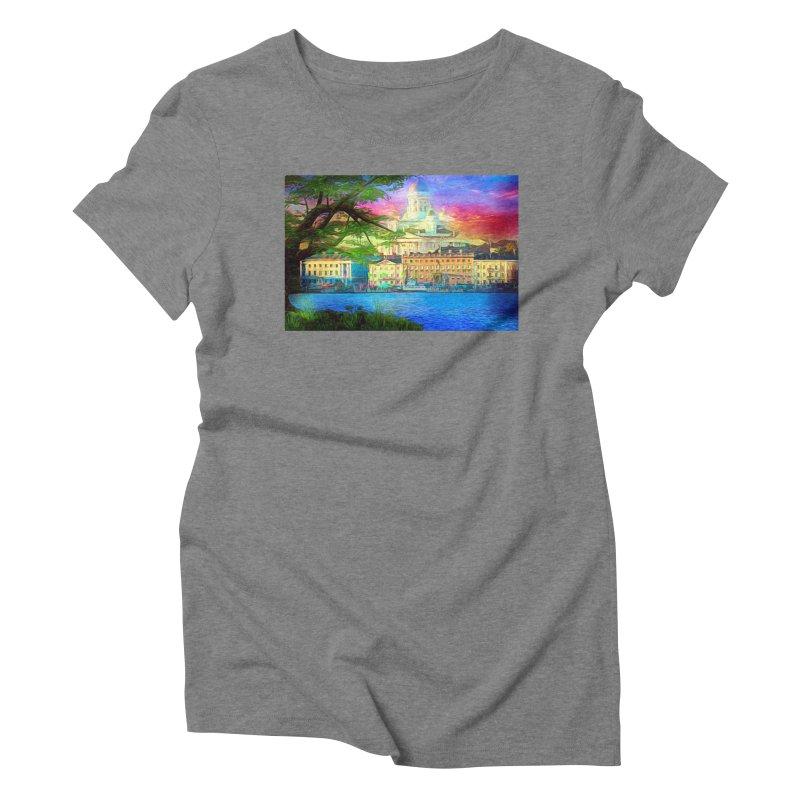 City of Rainbow Women's Triblend T-Shirt by Jasmina Seidl's Artist Shop