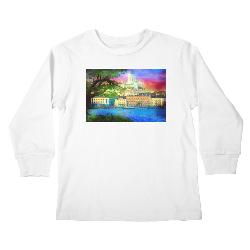 City of Rainbow Kids Longsleeve T-Shirt by Jasmina Seidl's Artist Shop