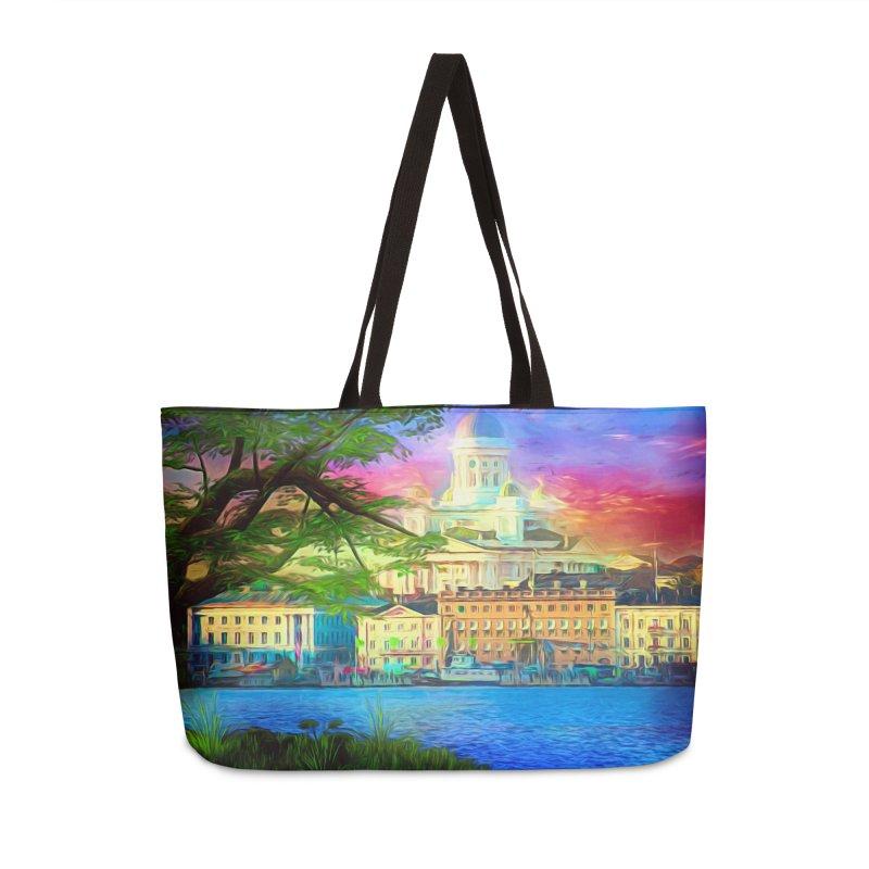 City of Rainbow Accessories Weekender Bag Bag by Jasmina Seidl's Artist Shop