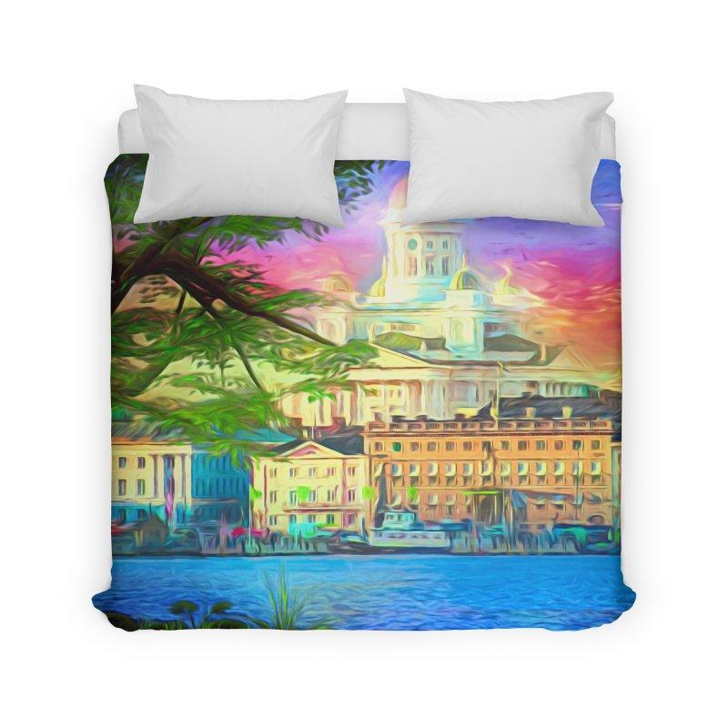 City of Rainbow Home Duvet by Jasmina Seidl's Artist Shop