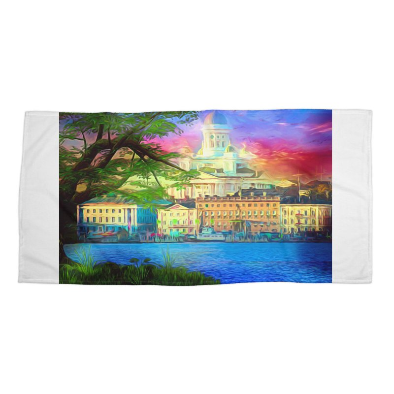 City of Rainbow Accessories Beach Towel by Jasmina Seidl's Artist Shop