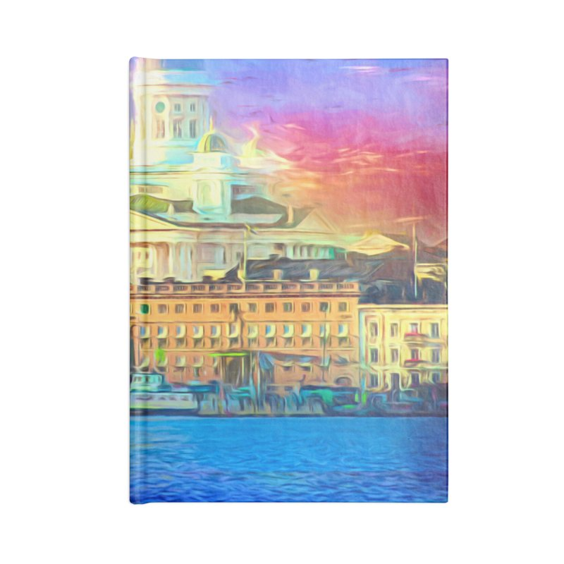 City of Rainbow Accessories Lined Journal Notebook by Jasmina Seidl's Artist Shop