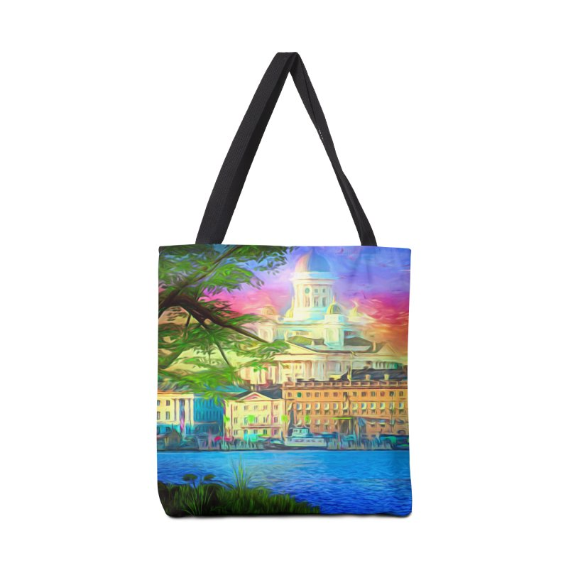 City of Rainbow Accessories Tote Bag Bag by Jasmina Seidl's Artist Shop