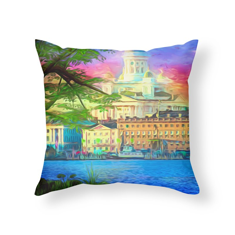 City of Rainbow Home Throw Pillow by Jasmina Seidl's Artist Shop