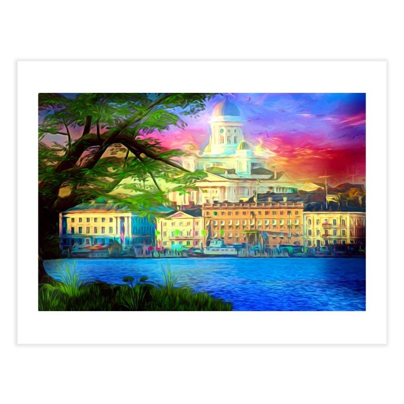 City of Rainbow Home Fine Art Print by Jasmina Seidl's Artist Shop