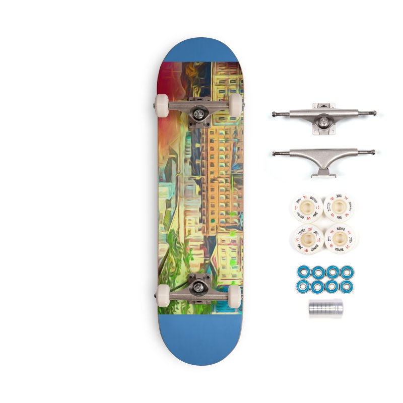 City of Rainbow Accessories Complete - Premium Skateboard by Jasmina Seidl's Artist Shop