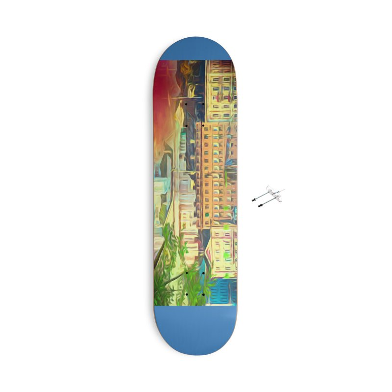 City of Rainbow Accessories With Hanging Hardware Skateboard by Jasmina Seidl's Artist Shop