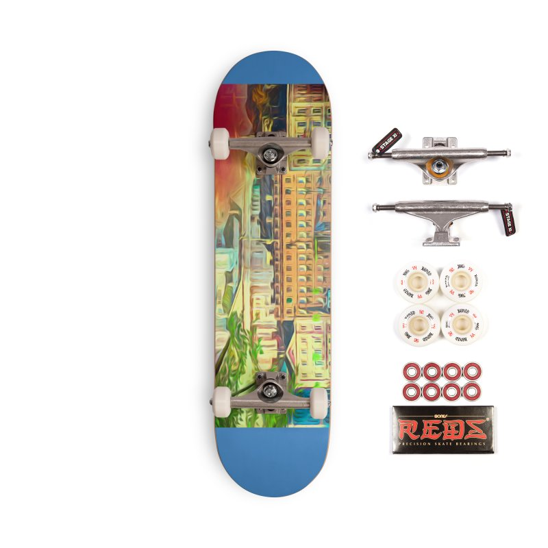 City of Rainbow Accessories Complete - Pro Skateboard by Jasmina Seidl's Artist Shop