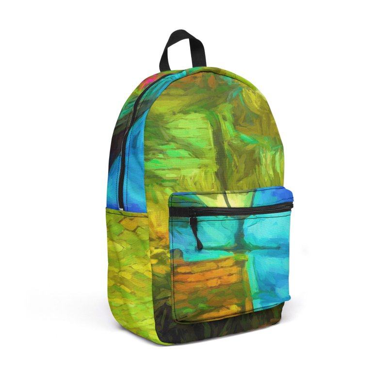 Bright Colors Accessories Backpack Bag by Jasmina Seidl's Artist Shop