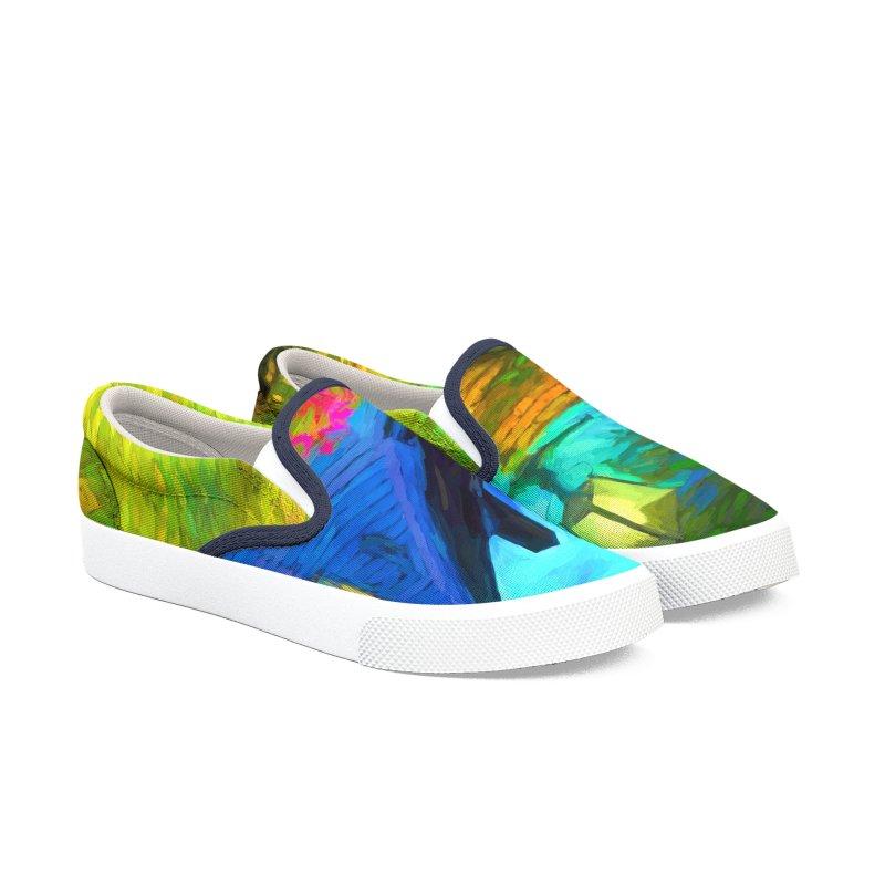 Bright Colors Men's Slip-On Shoes by Jasmina Seidl's Artist Shop