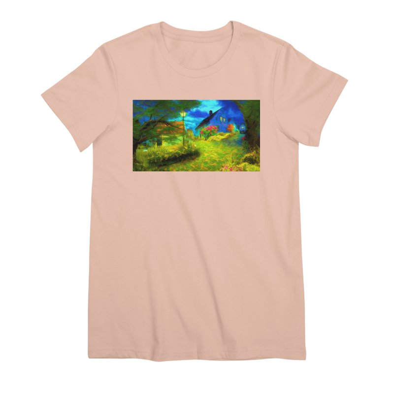 Bright Colors Women's Premium T-Shirt by Jasmina Seidl's Artist Shop