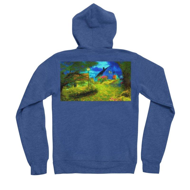 Bright Colors Men's Sponge Fleece Zip-Up Hoody by Jasmina Seidl's Artist Shop