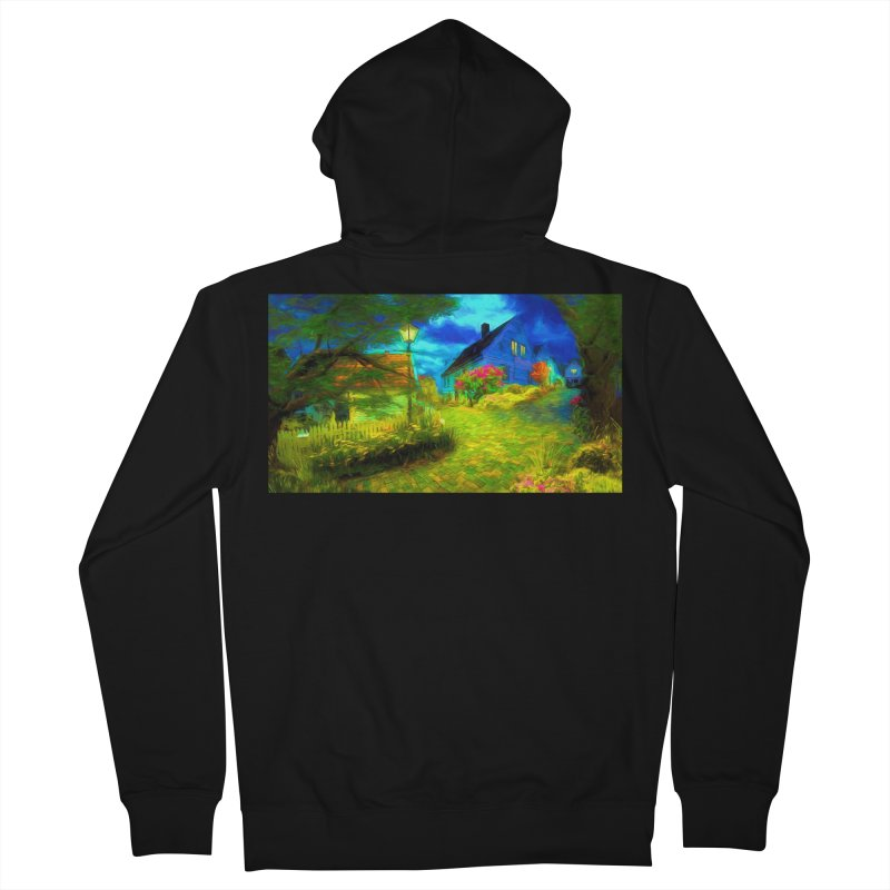 Bright Colors Men's French Terry Zip-Up Hoody by Jasmina Seidl's Artist Shop