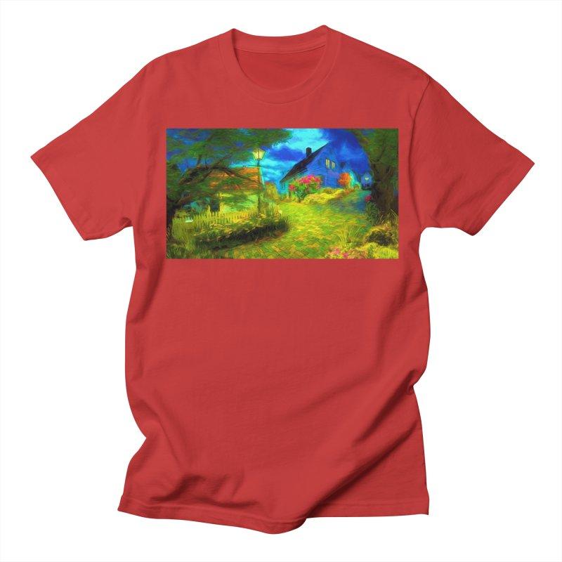 Bright Colors Men's Regular T-Shirt by Jasmina Seidl's Artist Shop