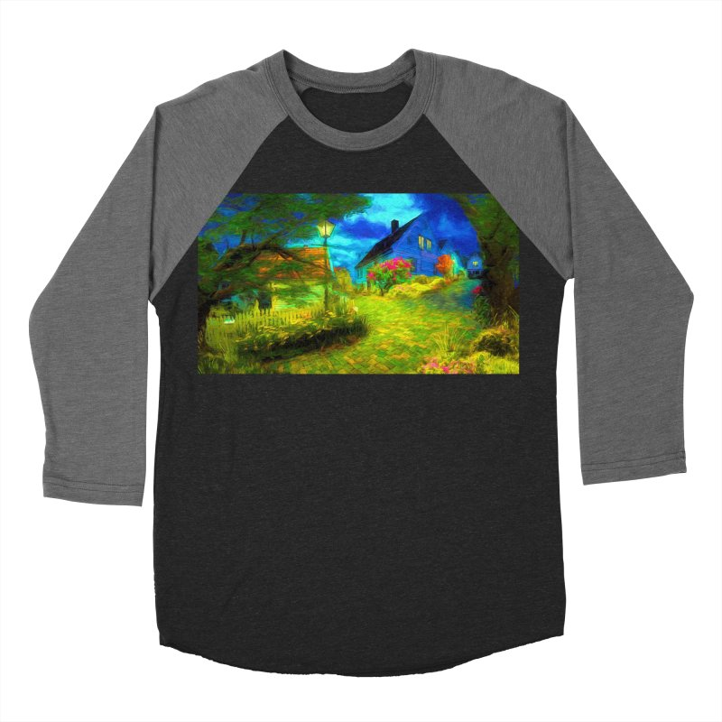 Bright Colors Men's Baseball Triblend Longsleeve T-Shirt by Jasmina Seidl's Artist Shop