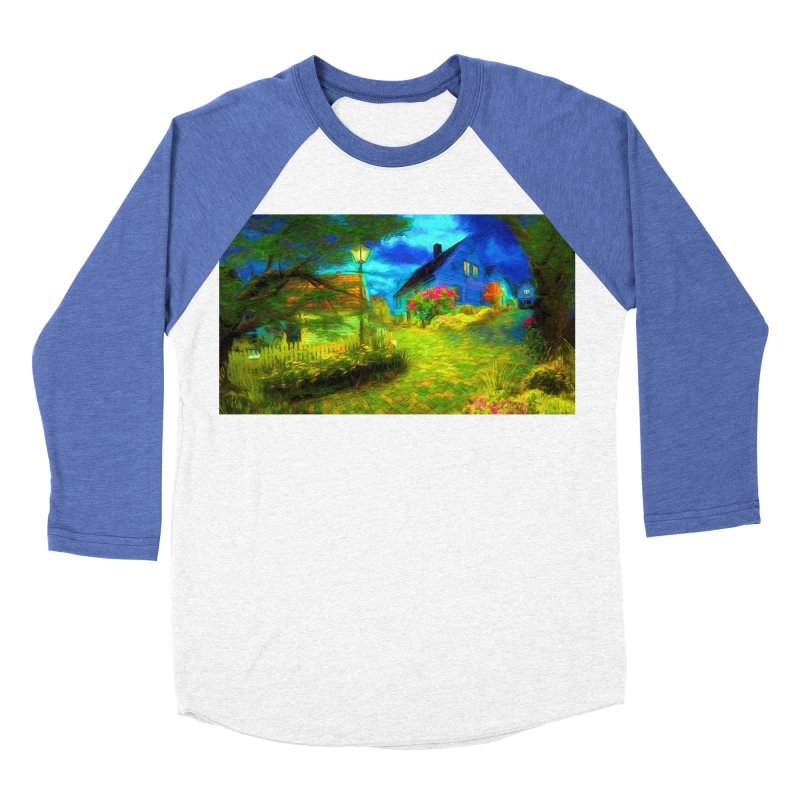 Bright Colors Men's Baseball Triblend Longsleeve T-Shirt by Jasmina Seidl's Artist Shop