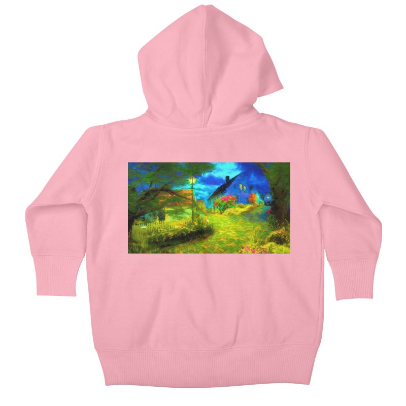 Bright Colors Kids Baby Zip-Up Hoody by Jasmina Seidl's Artist Shop