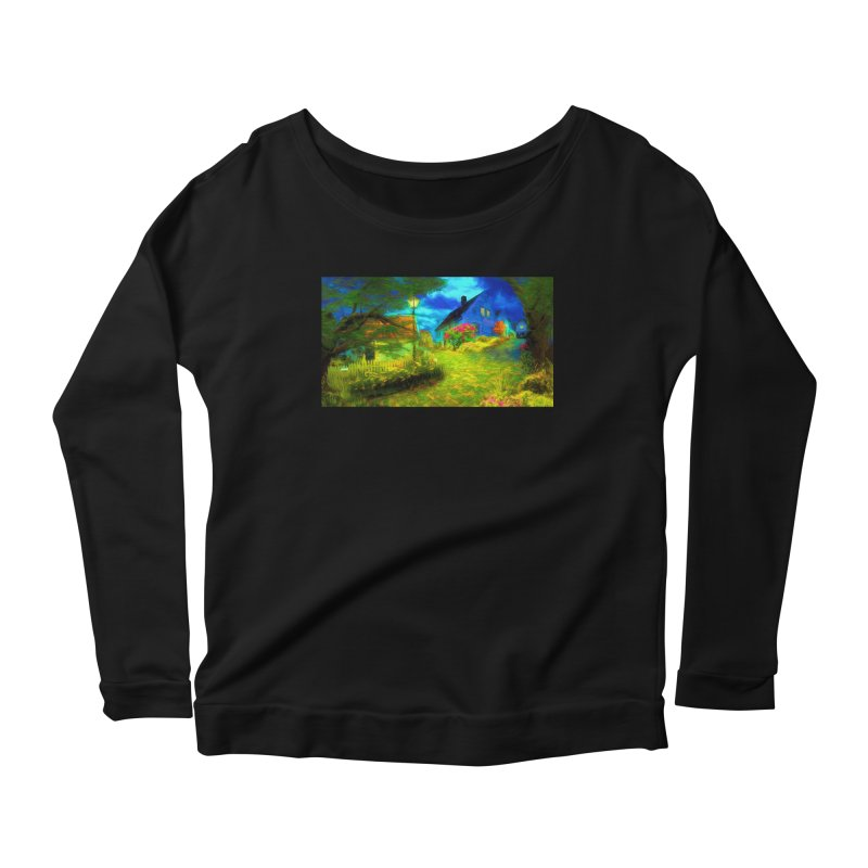 Bright Colors Women's Scoop Neck Longsleeve T-Shirt by Jasmina Seidl's Artist Shop