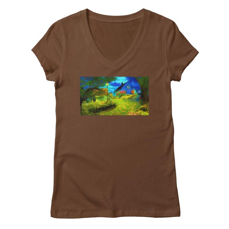 Bright Colors Women's Regular V-Neck by Jasmina Seidl's Artist Shop