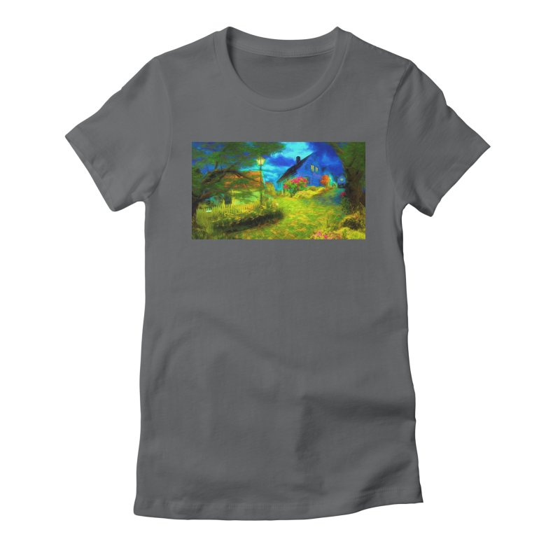 Bright Colors Women's Fitted T-Shirt by Jasmina Seidl's Artist Shop