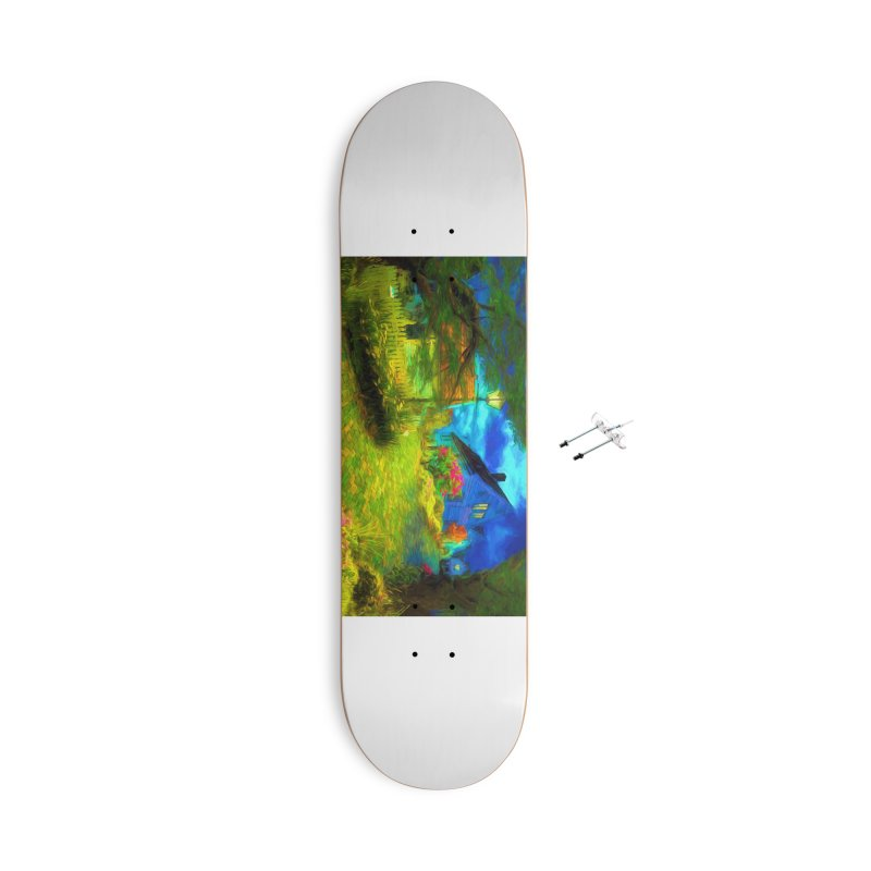 Bright Colors Accessories With Hanging Hardware Skateboard by Jasmina Seidl's Artist Shop