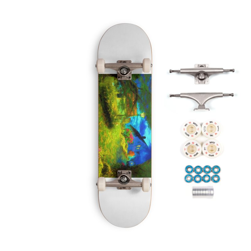 Bright Colors Accessories Complete - Premium Skateboard by Jasmina Seidl's Artist Shop