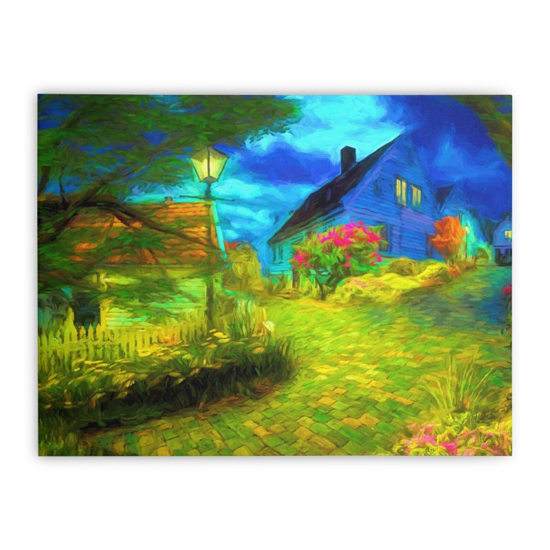 Bright Colors Home Stretched Canvas by Jasmina Seidl's Artist Shop