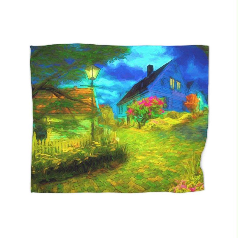 Bright Colors Home Fleece Blanket Blanket by Jasmina Seidl's Artist Shop