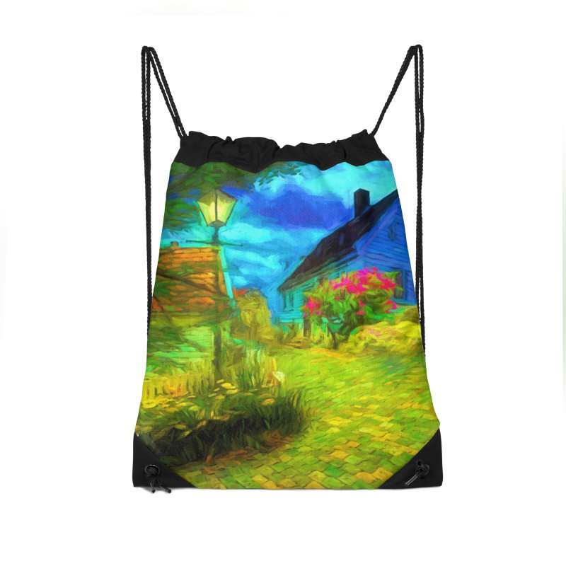 Bright Colors Accessories Drawstring Bag Bag by Jasmina Seidl's Artist Shop